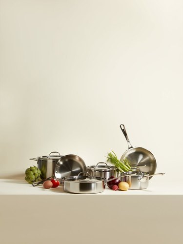 Italic Zest Stainless Steel Tri-Ply 10-Piece Cookware Set