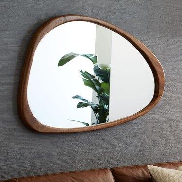 West Elm Midcentury Asymmetrical Wood Wall Mirror
