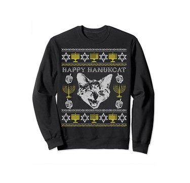 Happy Hanukcat Sweatshirt