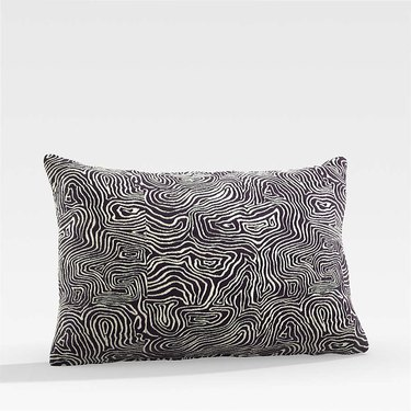 black swirled pillow