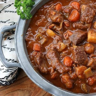 The Daring Gourmet Traditional Irish Beef and Guinness Stew