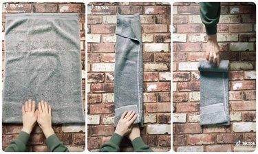 thefoldinglady towel folding tiktok tutorial