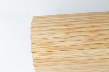 how to make a DIY fluted side table