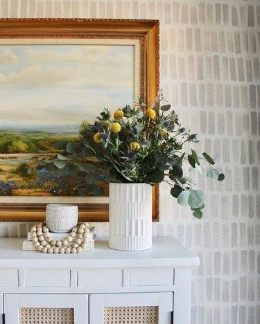 yellow and green trader joe's flower arrangement