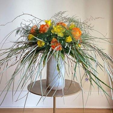 yellow and orange trader joe's flower arrangement