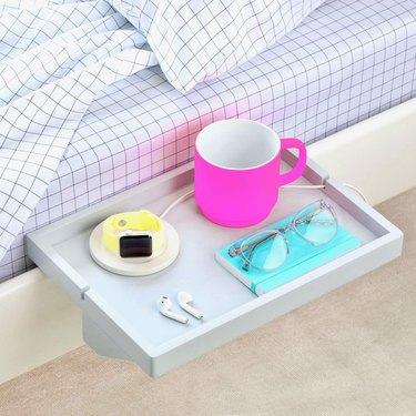 floating bed shelf for bed frame