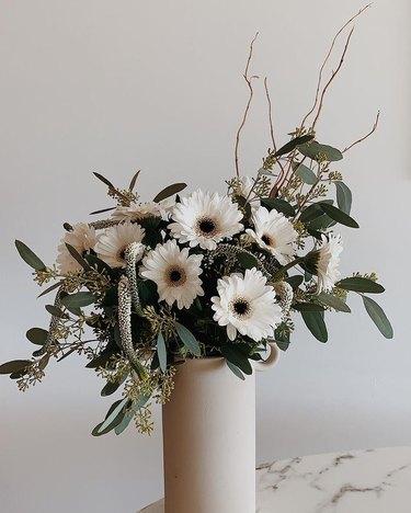 all white trader joe's flower arrangement