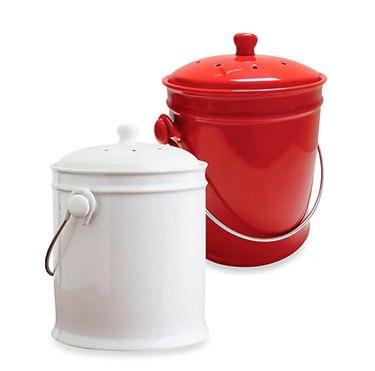 Natural Home 1-Gallon Ceramic Compost Bin