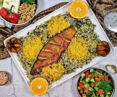 The Caspian Chef Sabzi Polo Mahi