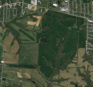 satellite view of farmland