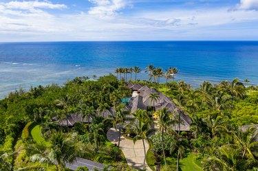 mansion overlooking ocean
