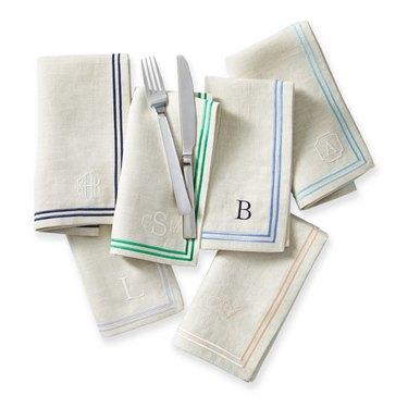 mark and graham monogram linen napkins