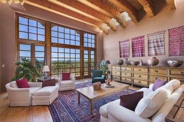 southwestern rustic living room