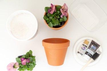 materials for DIY aged terra cotta pots