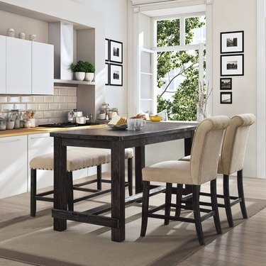 Rustic Black Counter Table
