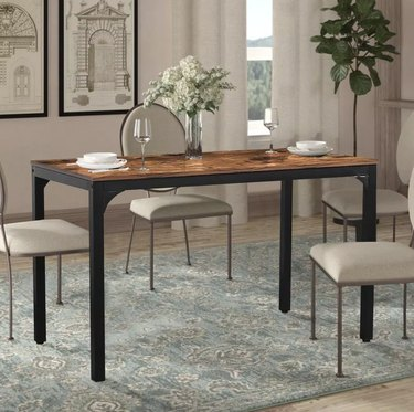 Industrial Brown Dining Table