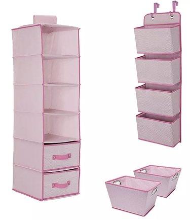Pink Hanging storage