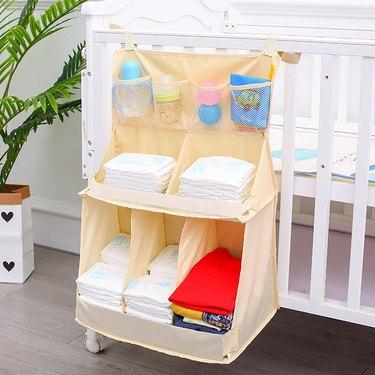 hanging diaper caddy