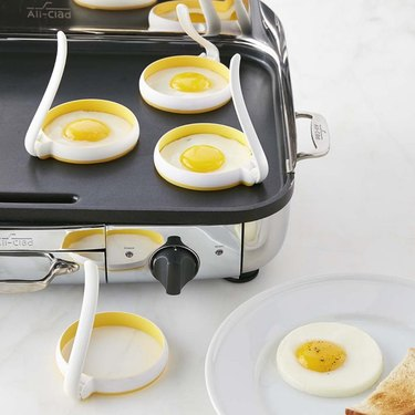 Egg fry rings on griddle