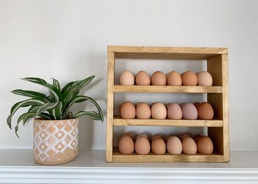 Wood and Grain Designs Egg Holder