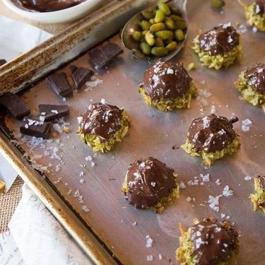 Tori Avey Dark Chocolate Pistachio Macaroons