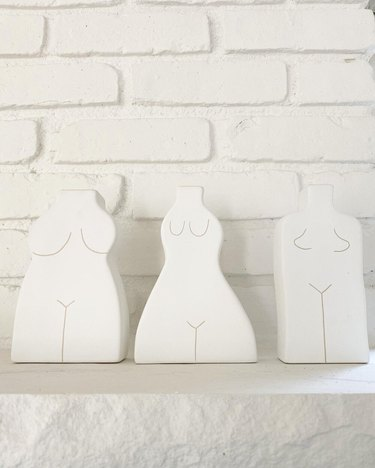 white body shaped ceramic vases from florabrook