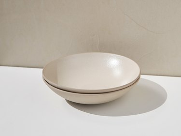 taupe open bowls stacked
