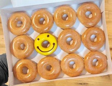 krispy kreme glazed smile donut