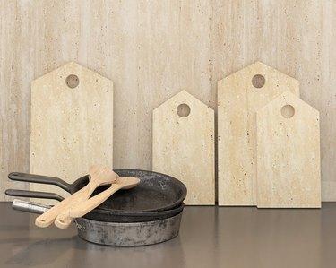 travertine cutting boards