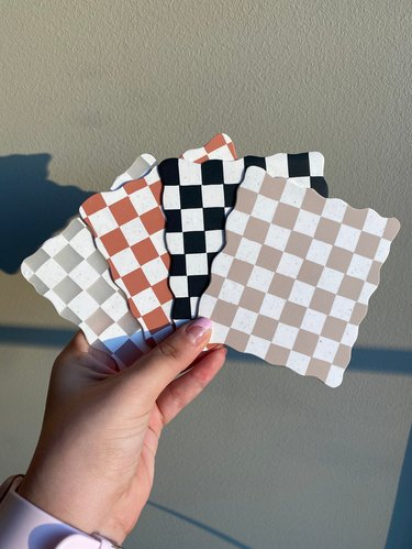 checkered coasters