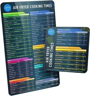 lotteli kitchen air fryer cheat sheet