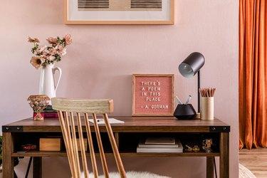 at-home desk setup