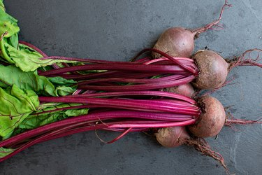 beets with steams and leaves