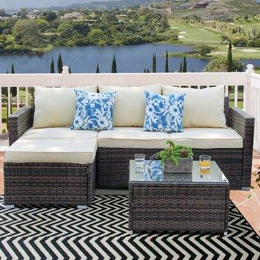 Resin Wicker 3-piece Furniture Set