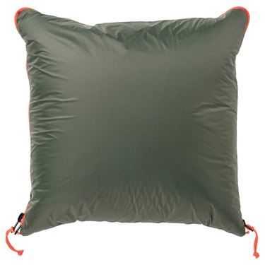 green puffy pillow