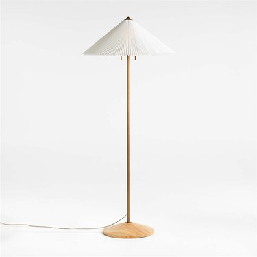 floor lamp with fluted shade