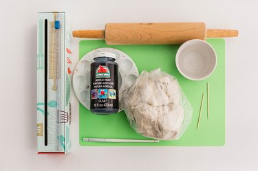 tools to make air-dry clay holder