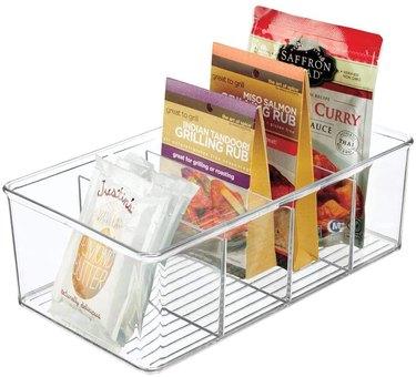 mDesign Plastic Food Storage Organizer