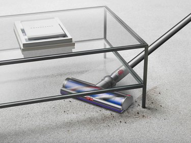 dyson outsize vacuum cleaning under table