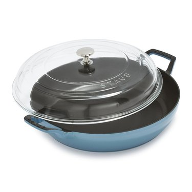 Staub blue pan with lid