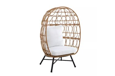 Bee & Willow Home Stationary Egg Chair in Brown