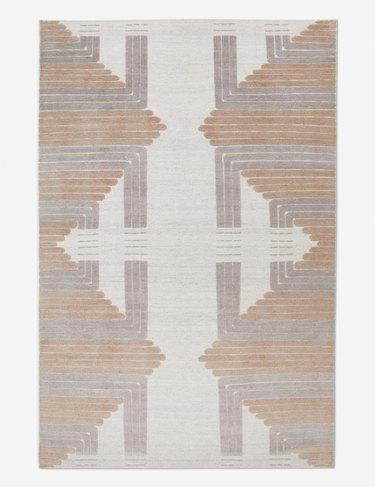 patterned neutral rug