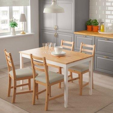 IKEA Lerhamn Light Antique Dining Table