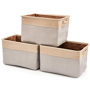EZOWare Collapsible Canvas Storage Cubes with Handles
