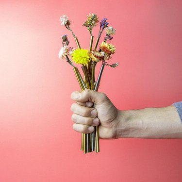 package free reusable straws with flowers