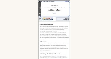 personality color test alice blue