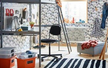 IKEA teenage bedroom idea gaming