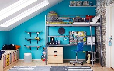 IKEA teenage bedroom idea loft bed