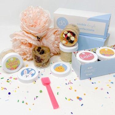 edible cookie dough Easter gift set