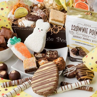 brownie points chocolate covered treats Easter gift basket
